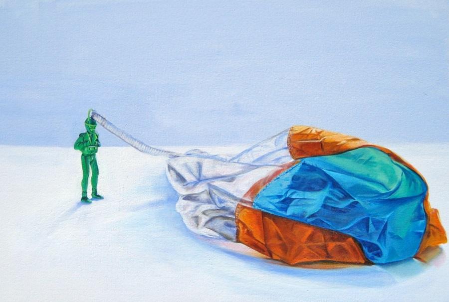 Little Green ParachuteMan