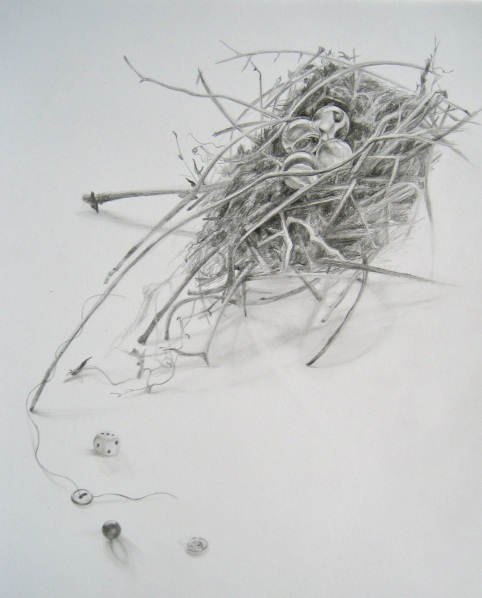 """Potential,"" Graphite on Bristol Vellum, 6 x 6 in."