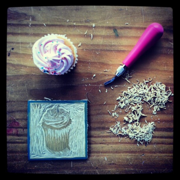Linocut is so much fun! Especially with such a delicious subject.
