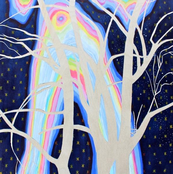 Night of Stillness/Upheaval, Acrylic on Panel, 12 x 12 inches
