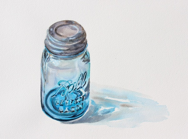 Ball Jar, Watercolor, 8 x 11 inches