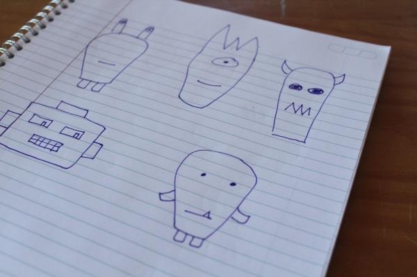 Pillow Buddies Sketches