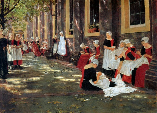 Max Liebermann, Free Period in the Amsterdam Orphanage, 188, Oil on Canvas
