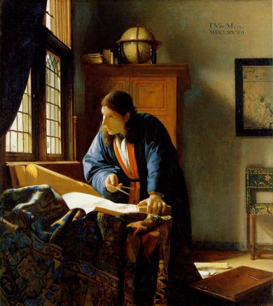 Jan Vermeer van Delft, The Geographer, 1669, Oil on Canvas