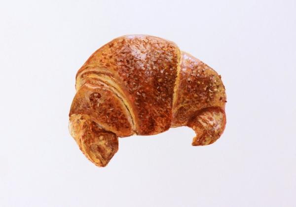 Croissant Rustika, Gouache on Paper, 17 x 24 cm