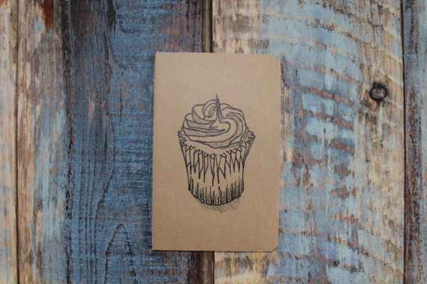 Cupcake Moleskine HeatherMcCawArt