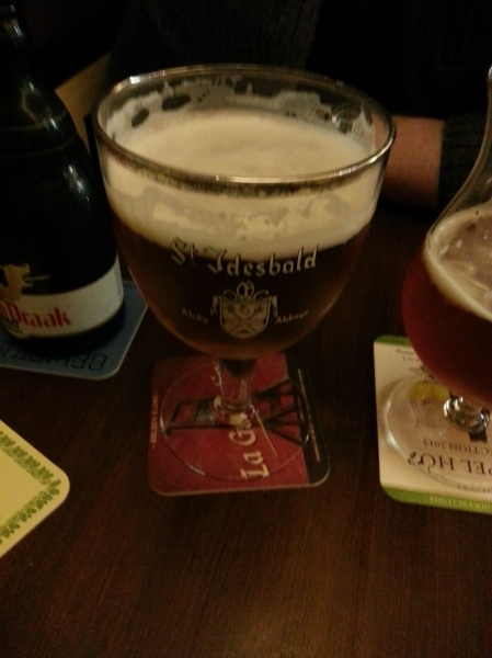 One of the beers we tried at Dulle Griet.