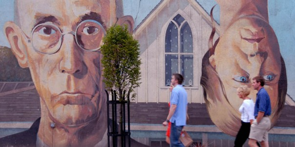 American Gothic Mural on Lincoln St. (Source: Short North Business Association)