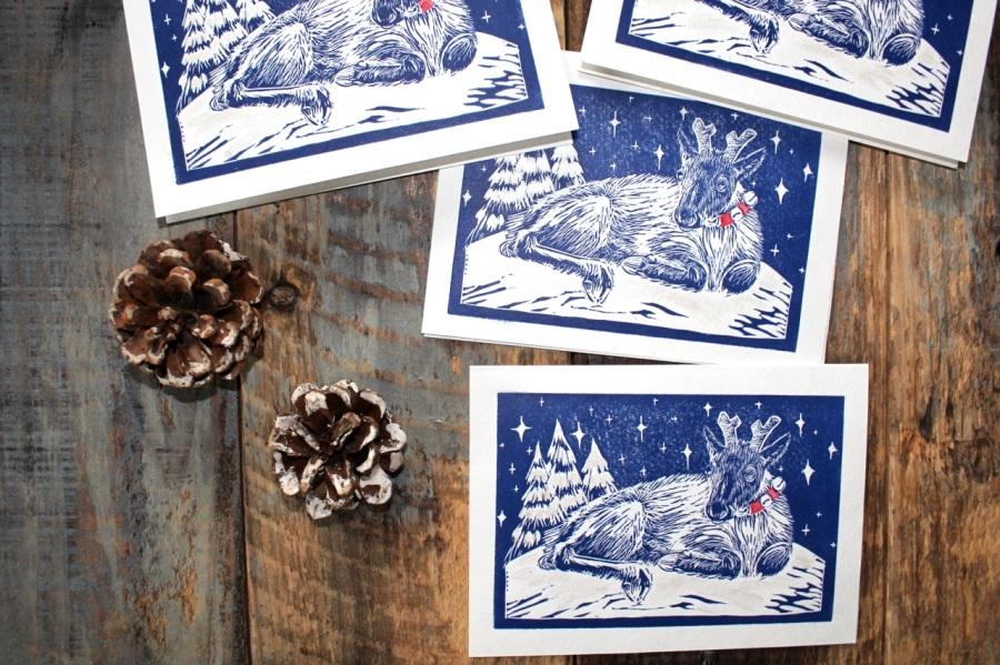 Reindeer Baby ChristmasCards!