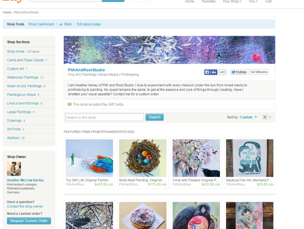 Pith and Root Studio Etsy Shop
