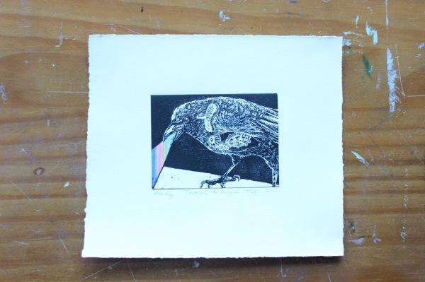 Heather Kerley WindUp Bird Print Pith and Root Studio