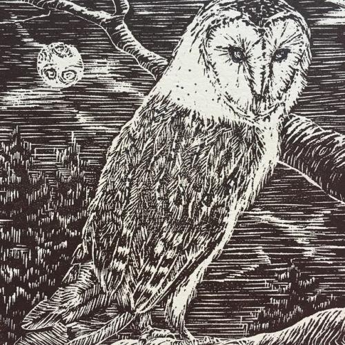 Finished Owl Print