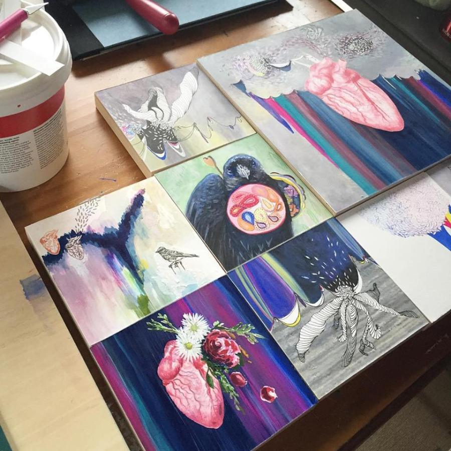 New Painting, New Show, and Thoughts on Working from Small toLarge