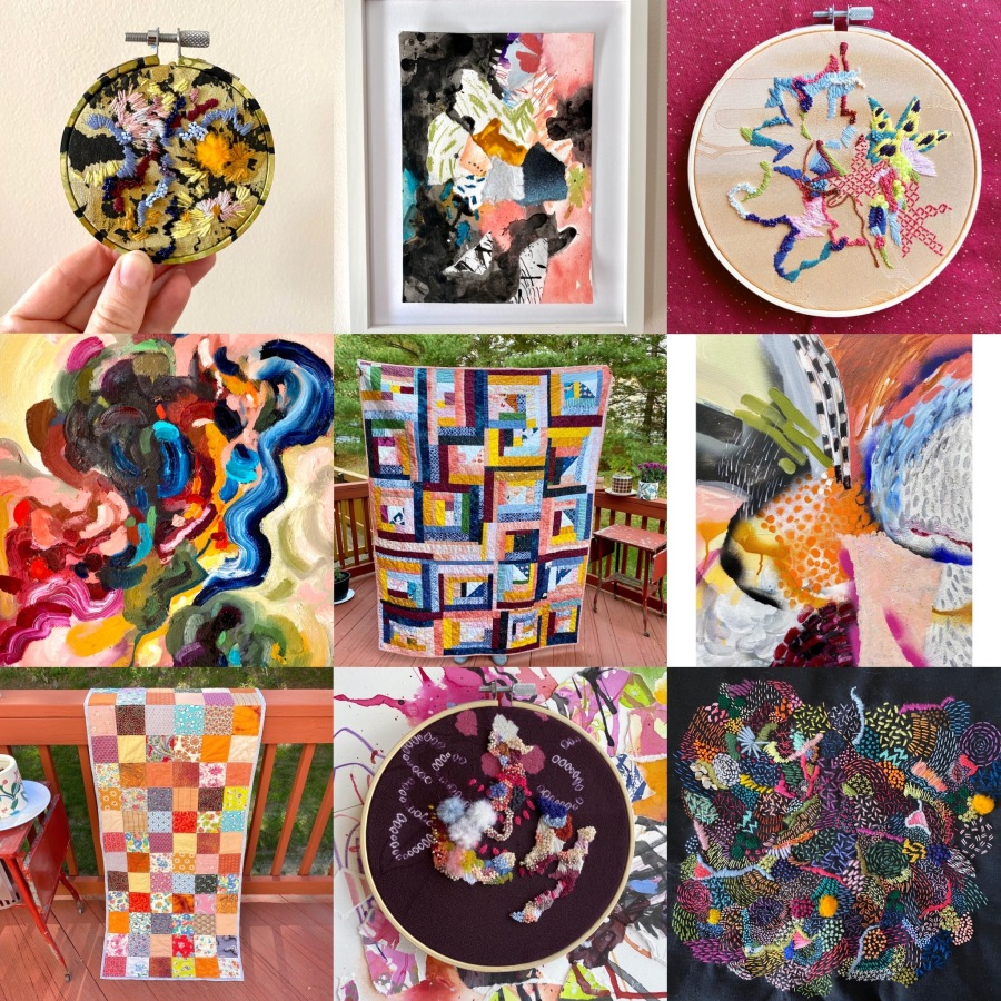 Studio Update: Quarantine, quilts, embroidery, upcoming craft show andmore!