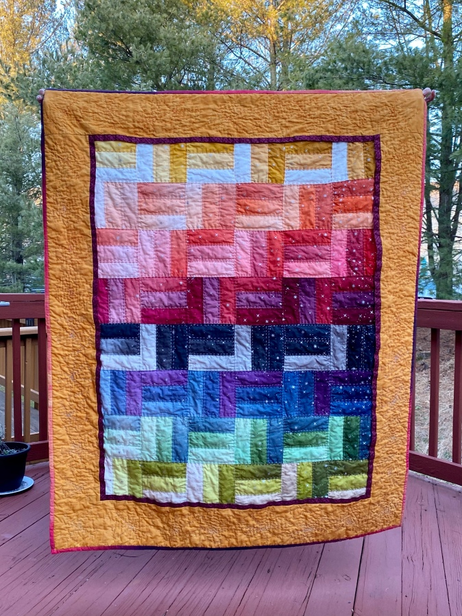 The journey of a quilt from start tofinish…