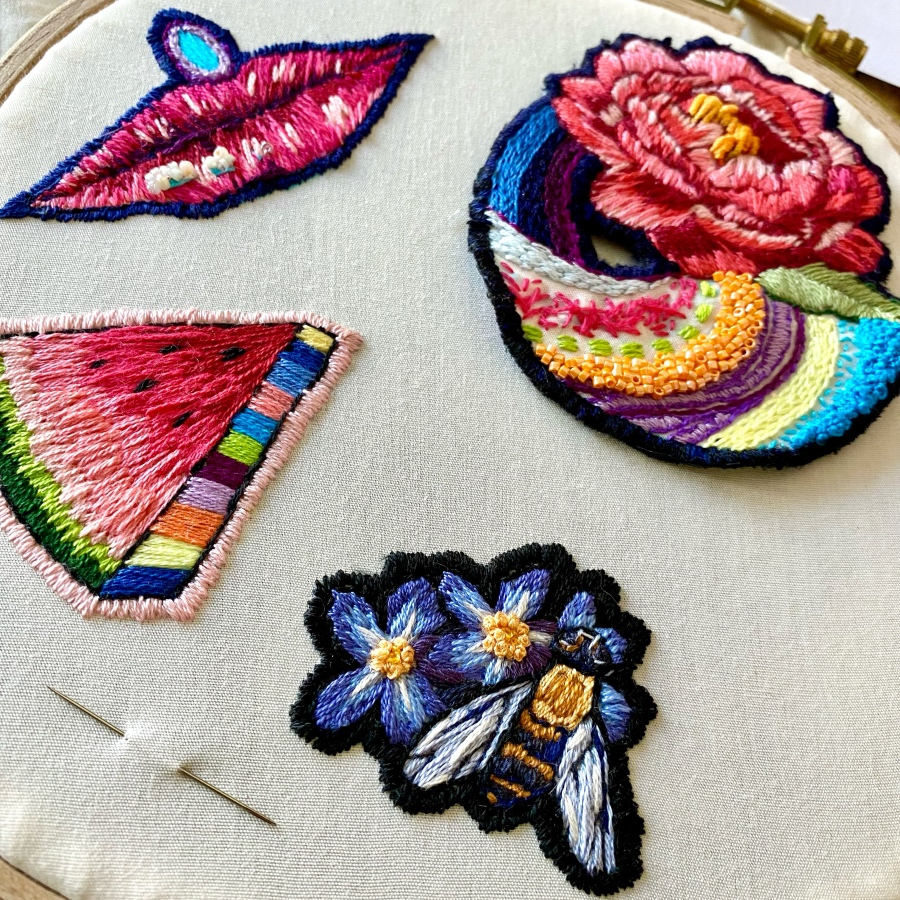 New in my Shop! Hand EmbroideredPatches